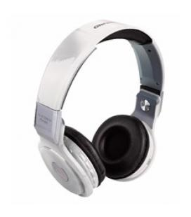 Auriculares  reproductor  mp3 woo ps400b/ bluetooth/ microfono/  fm / micro sd / llamadas remotas/  blanco