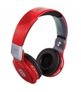 Auriculares  reproductor  mp3 woo ps400b/ bluetooth/ microfono/  fm / micro sd / manos libres/  rojo