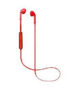Auriculares bluetooth de boton nevir rojo