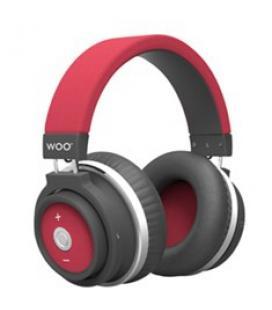 Auriculares bluetooth hp001btr woo rojo
