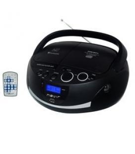 Radio cd mp3 portatil nevir nvr-480ub negro / bluetooth - Imagen 1