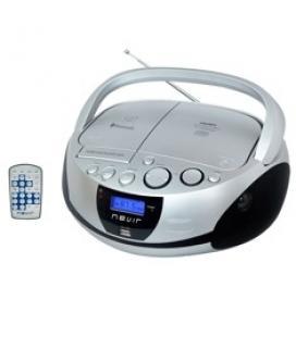 Radio cd mp3 portatil nevir nvr-480ub plata / bluetooth - Imagen 1