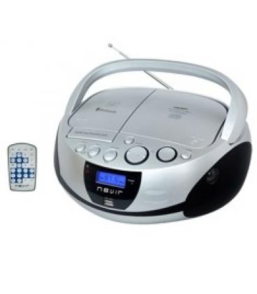 Radio cd mp3 portatil nevir nvr-480ub plata   bluetooth e73ab0cda36