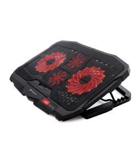 Soporte / base refrigeracion para portatil phoenix phfactorcooler gaming / 2x puerto usb / 4 ventiladores / control pantalla ind