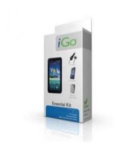 Accesorio ipad 2 essential kit igo. funda protectora silicona + protector pantalla diamant+ cargador mechero / coche + cable car