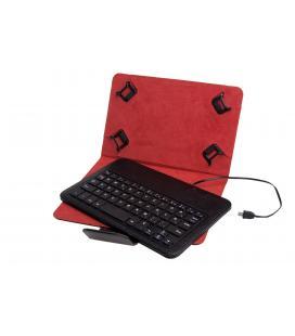 Funda universal + teclado con cable phoenix para tablet / ebook 7-8'' negra micro usb