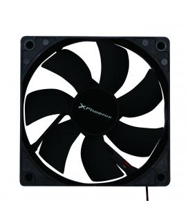 Ventilador auxiliar phoenix phcoolerfan12 12cm / 3 a 4 pines/ 1200rpm/ silencioso/ color negro