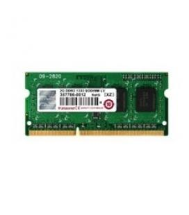 Memoria ddr3l 2gb transcend/ 1333 mhz/ 1.35v/ cl9 para portatil