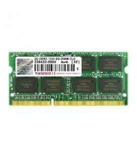 Memoria portatil ddr3 2gb transcend/ 1333 mhz/ pc10600