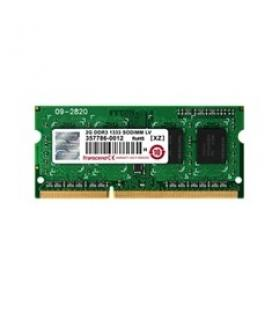 Memoria ddr3l 4gb transcend/ 1600 mhz/ so-dimm/ 2rx8/ cl11/ 1.35v