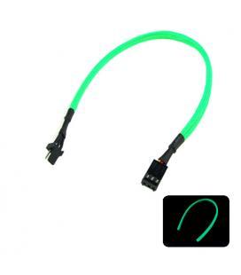 Phobya Alargo 3pin 30cm Sleeve Verde UV - Imagen 1