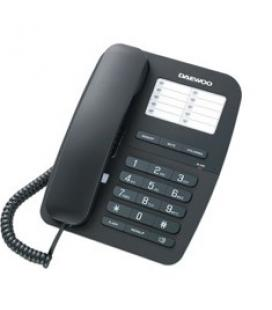 Telefono sobremesa daewoo dtc-240/ manos libres/ transferencia llamada/ negro - Imagen 1