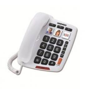 Telefono sobremesa daewoo dtc-760/ manos libres/ teclas grandes/ blanco