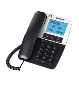 Telefono sobremesa daewoo dtc-410/ manos libres/ transferencia llamada/ negro