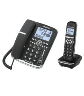 Telefono sobremesa + inalambrio dect daewoo negro/