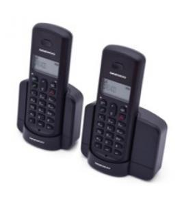 Telefono inalambrico dect daewoo dtd-1350 duo negro / base cargadora/ gap