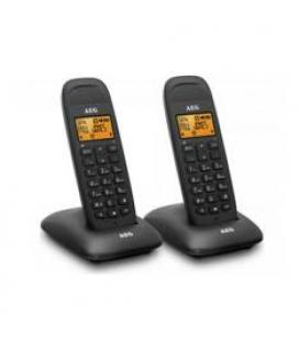"Telefono inalambrico aeg voxtel d85 twin 1.6""/ negro"
