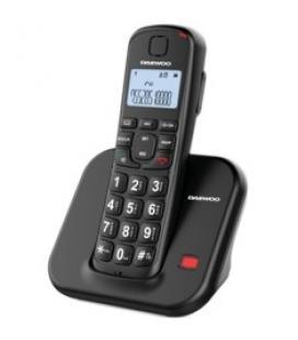 Telefono inalambrico dect daewoo dtd-7200 negro / manos libres / teclas grandes / lcd /