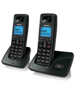 Telefono inalambrico dect daewoo dtd-4100 duo negro / manos libres - Imagen 1