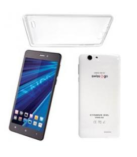 "Telefono movil smartphone woo cygnus xxl blanco 6"" / quad core / 4 nucleos /  1gb ram / 4g / 8gb / 13 mp / doble sim/ funda de s"