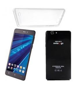 "Telefono movil smartphone woo cygnus xxl negro 6"" / quad core / 4 nucleos /  1gb ram / 4g / 8gb / 13 mp / doble sim/ funda de si"