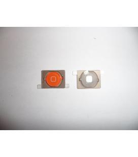 Repuesto boton home para apple iphone 4s naranja