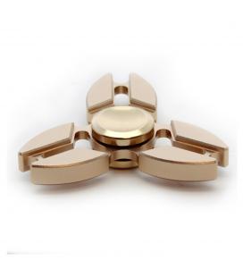 Fidget spinner aluminio alta velocidad estrella dorado - Imagen 1