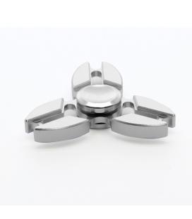 Fidget spinner aluminio alta velocidad estrella plata - Imagen 1