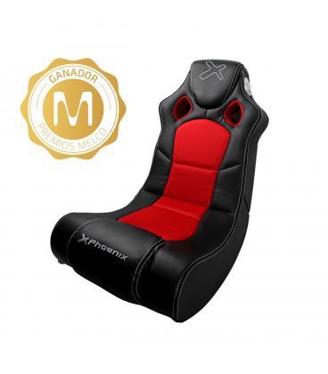 Sillon /  sofa phoenix gaming racer negro incorpora sistema de sonido 2.1 - Imagen 1
