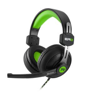 Sharkoon RUSH ER2 Binaurale Diadema Negro, Verde auricular con micrófono
