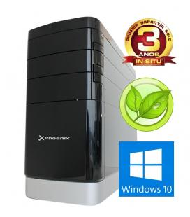 Ordenador phoenix topvalue intel i3 6100 4gb ddr4 240 gb ssd f.a.300w eficiencia energetica rw micro atx windows 10