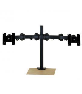 Soporte dual horizontal para pantalla tv y monitor phoenix hasta 6kg cada pantalla  ajustable / movimiento completo/ con fijacio