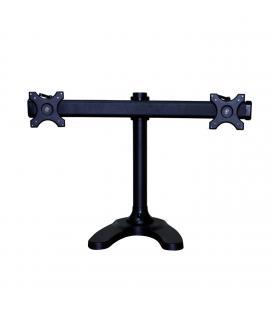 Soporte dual horizontal phoenix para monitor pantalla tv hasta  8kg cada pantalla / base de metal para sujeccion negro