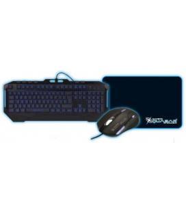 Kit teclado + raton + alfombrilla coolbox quasar hyperion gaming