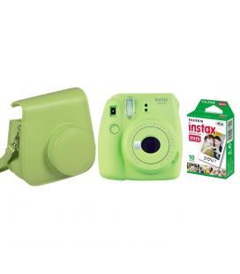 Kit camara fujifilm instax mini 9 verde lima +funda+carga - Imagen 1