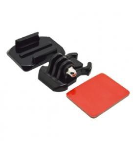 Accesorio soporte adhesivo curvo 3m  para casco phoenix para fijar camaras sport & gopro hero 4/3+/3/2/1 de color negro helmet c