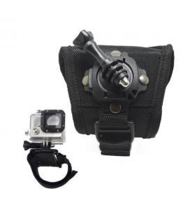 Accesorio soporte muñeca ajustable con rotacion velcro de 360 phoenix para camaras sport & gopro hero 4/3+/3/2/1 de color negro