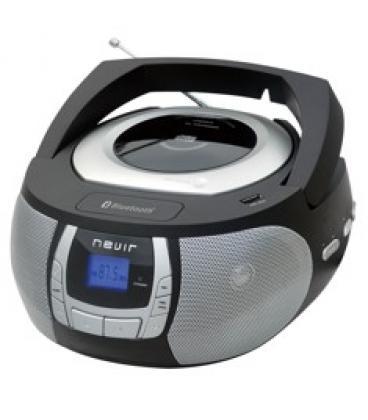 Radio cd mp3 portatil nevir nvr- 481ub negro   bluetooth d2d586db131