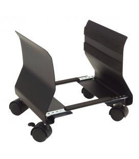Soporte cpu / ordenador phoenix adaptable con ruedas material muy resistente acero negro - Imagen 1