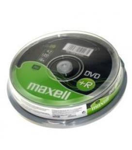 Dvd grabable 4.7 gb maxell 16x tarrina con 10 unidades