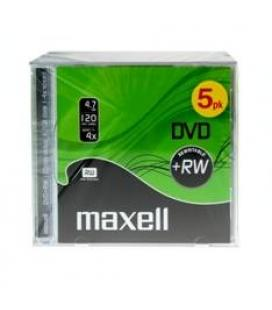 Dvd regrabable jewel case 4.7 gb maxell 4x pack de 5 unidades