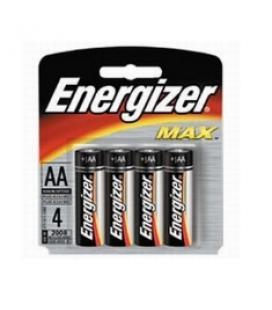 Blister energizer cuatro pilas aa alcalinas lr-6 clasica 1.5v