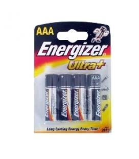 Blister energizer cuatro pilas aaa alcalinas lr-03 clasica 1.5v