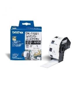 Etiquetas papel precortada brother dk11221 23 x 23 mm cuadrada ql-500bw ql-560 ql-570 ql-580n ql-1050