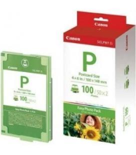 Papel foto canon 10x15 + tinta 100 hojas selphy serie es