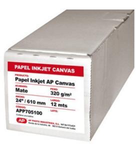 """Rollo papel ap canvas matte 320grs 24"""" 610mm x 12 mts"""