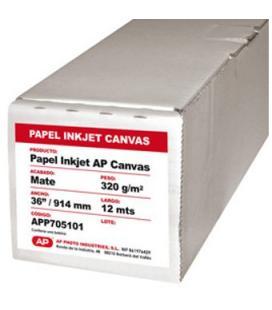 """Rollo papel ap canvas matte 320grs 36"""" 914mm x 12 mts"""