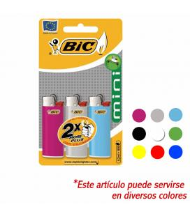 Blister de 3 mecheros classic mini - colores variados - bic