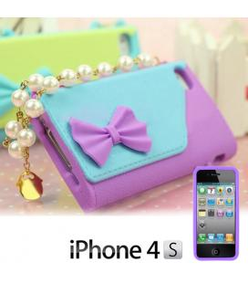 Funda iPhone 4/4S Bolso con Perlas Gadget and Gifts - Imagen 1
