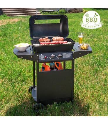 Barbacoa de gas con grill bbq classics 1834va for Barbacoa bbq
